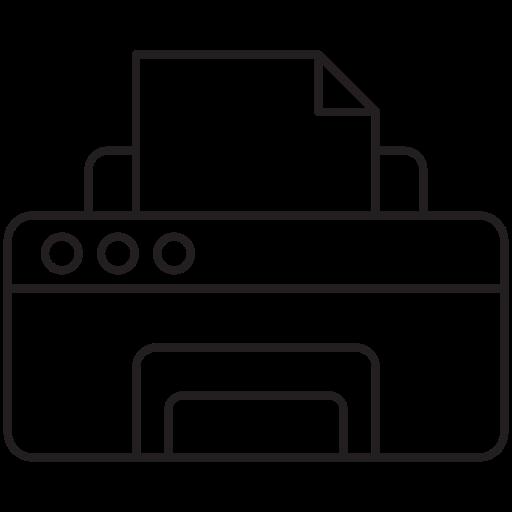 fax, printerf, printing icon