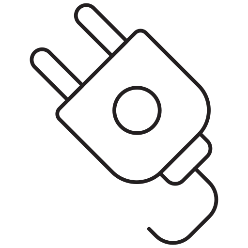electric icon, socket, switch icon