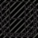 filmstrip, film reel, movie reel, camera reel, image reel icon