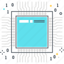 component, computer, cpu, electronics, hardware, mainboard, processor icon