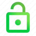 access, access granted, lock, unlock icon