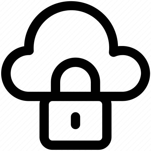 cloud, lock, protection, security icon icon