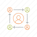 communication, group, internet, team icon icon