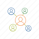 connection, link, network, people icon icon