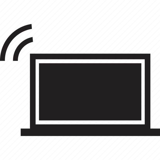 device, monitor, screen, signal, wireless icon