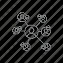 building, minus, relationship, team minus, team work, work icon icon
