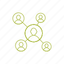 managemnt, network, relation, team, team work icon