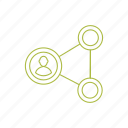 connection, link, network, people, social network icon icon