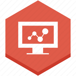 analytics, graphic, modern, monitor, screen, stats, symbol icon