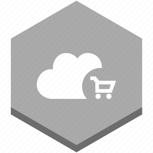 buy, cart, cloud, commerce, commercial, internet, shopping icon