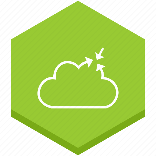 arrow, arrows, cloud, direction, interface, outline, symbol icon