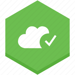 cloud, correct, interface, right, sign, symbol, verification icon