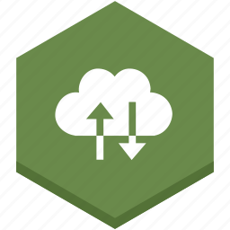 arrows, cloud, couple, down, exchange, exchanging icon