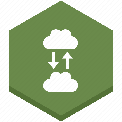 arrows, cloud, data, exchange, exchanging, interface, internet icon