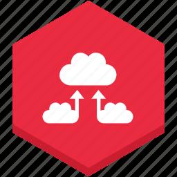 cloud, clouds, data, exchange, interface, internet, symbol icon