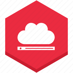 bar, cloud, horizontal, internet, play, sign, symbol icon