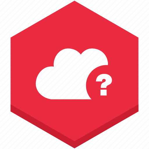 cloud, interface, internet, mark, question, sign icon
