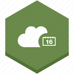 calendar, cloud, date, internet, symbols, time icon
