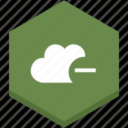 cloud, interface, internet, less, minus, symbol, symbols icon