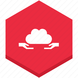 cloud, give, hands, interface, receiving, symbol icon