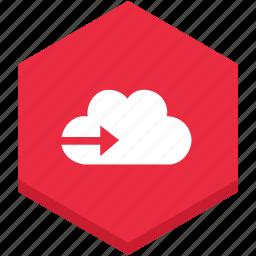 arrow, cloud, interface, right, symbol icon