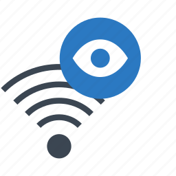 eye, look, rss, view, wifi icon