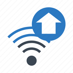 home, house, rss, signal, wifi icon