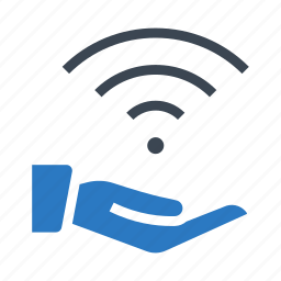 connect, hand, rss, signal, wifi icon