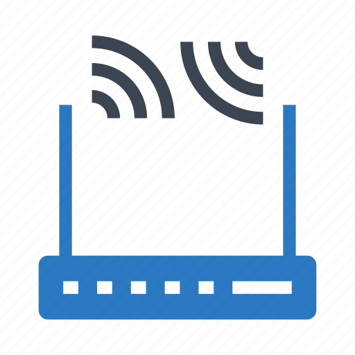 broadband, device, modem, router, wireless icon