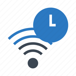 clock, rss, signal, time, wifi icon