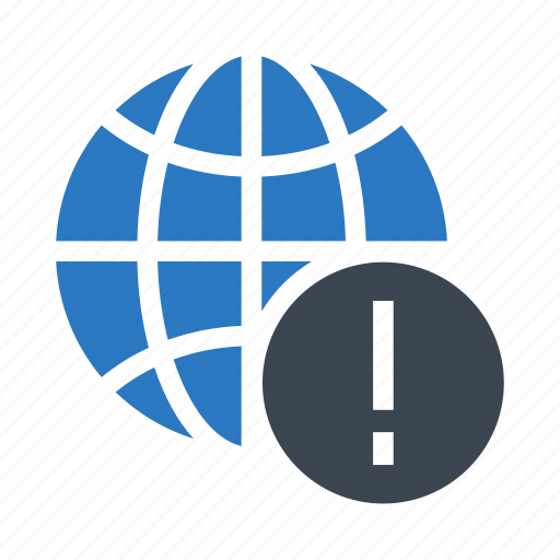 Error, exclamation, global, warning, world icon - Download on Iconfinder