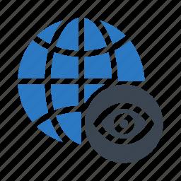 eye, global, see, view, world icon