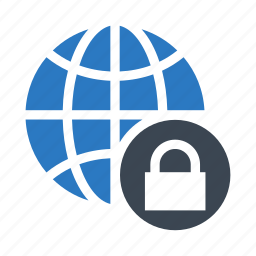 global, lock, protection, secure, world icon