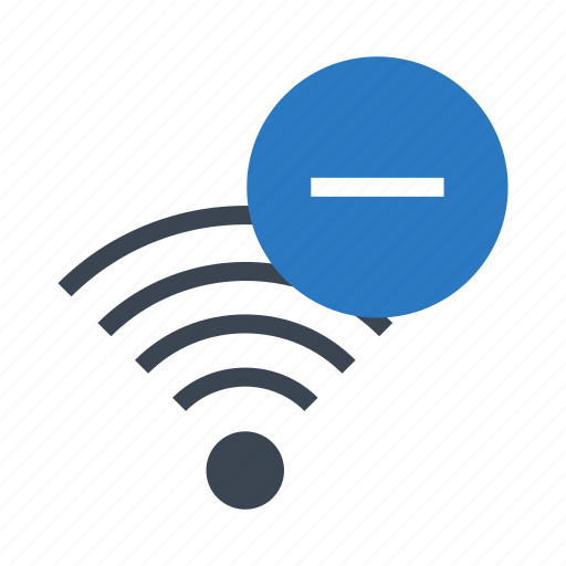 minus, remove, rss, signal, wireless icon