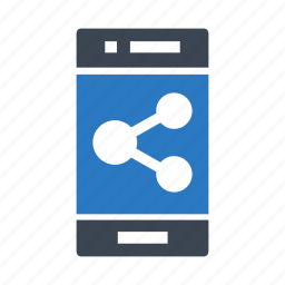 connect, device, mobile, phone, share icon