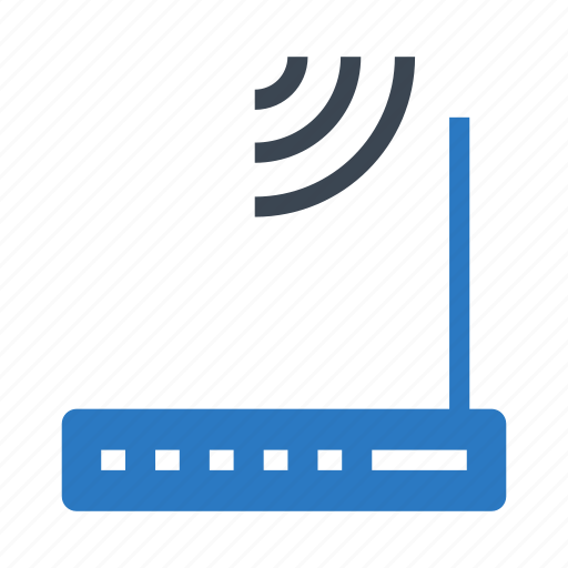 broadband, device, modem, router, wireless icon