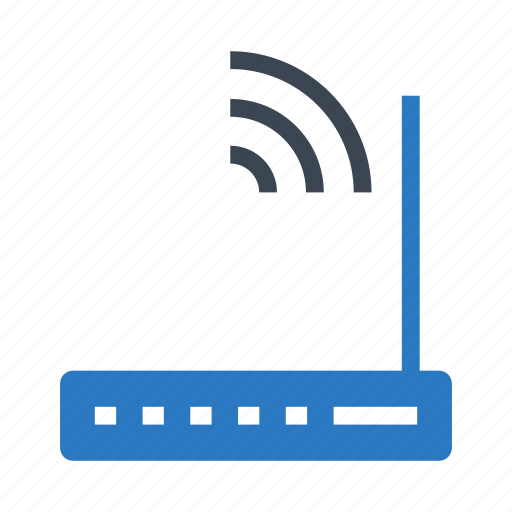 broadband, moden, network, router, wireless icon