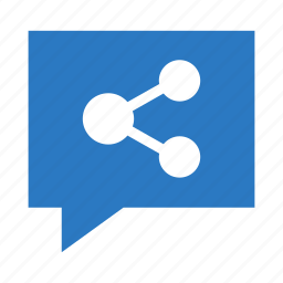bubble, connect, connection, network, share icon
