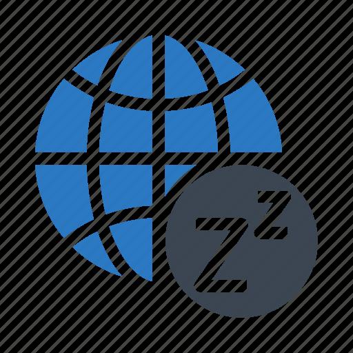 earth, global, planet, sleep, world icon