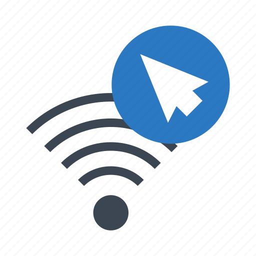 cursor, pointer, signal, wifi, wireless icon