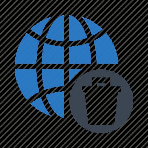 Delete, global, globe, trash, world icon - Download on Iconfinder