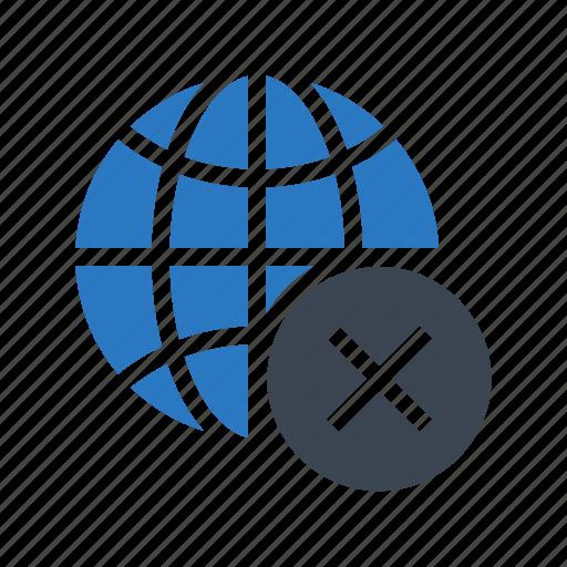 cross, delete, earth, global, world icon
