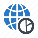 chart, earth, globe, graph, world icon