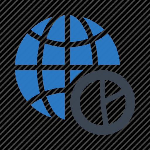 chart, earth, globe, graph, world icon