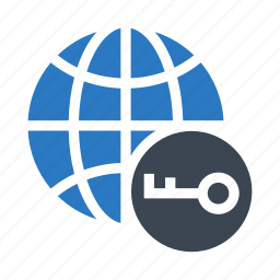 global, key, lock, secure, world icon