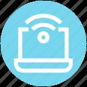 hotspot, internet, laptop, notebook, signals, technology, wifi signals