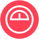 dashboard, gauge, interface, measure, meter, speed, speedometer icon