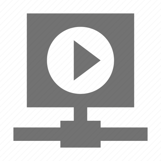 media player, multimedia network, multimedia server, video player icon