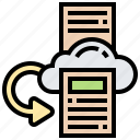copy, backup, storage, data, cloud icon