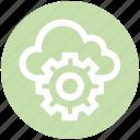 admin, cloud, configuration, gear, setting, share, storage icon